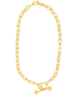 "GOLD-TONE OPEN-LINK CHAIN 16"" TOGGLE NECKLACE"