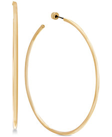Steve Madden Gold-Tone Open Hoop Earrings