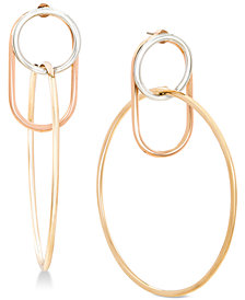 Steve Madden Two-Tone Interlock Hoop Earrings