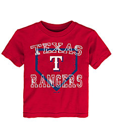 Outerstuff Texas Rangers Fan Base T-Shirt, Toddler Boys (2T-4T)
