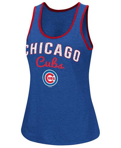 G-III Sports Women's Chicago Cubs Power Punch Glitter Tank