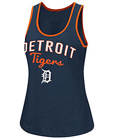 G-III Sports Women's Detroit Tigers Power Punch Glitter Tank