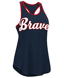G-III Sports Women's Atlanta Braves Oversize Logo Tank