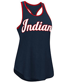 G-III Sports Women's Cleveland Indians Oversize Logo Tank