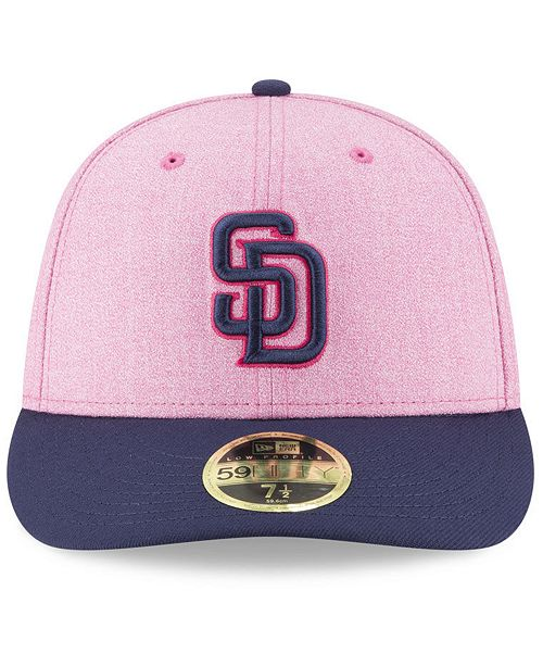 low priced 794e4 aa14a ... New Era San Diego Padres Mothers Day Low Profile 59Fifty Fitted Cap ...
