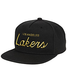 Mitchell & Ness Los Angeles Lakers Metallic Tempered Snapback Cap