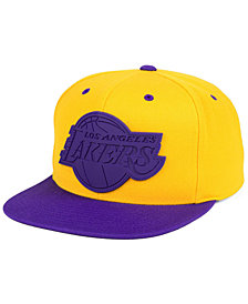 Mitchell & Ness Los Angeles Lakers Rubber Weld Snapback Cap