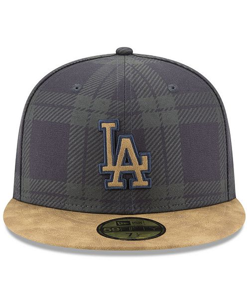 wholesale dealer c2c08 cd7af ... cheap new era los angeles dodgers plaid 59fifty fitted cap sports fan  shop by lids men