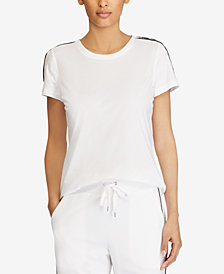 Lauren Ralph Lauren Lace-Trim Cotton Jersey T-Shirt
