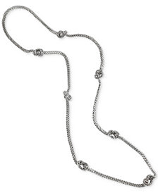 """Charter Club Silver-Tone Knotted Mesh 20"""" Statement Necklace, Created for Macy's"""