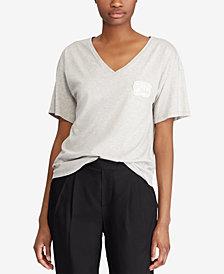 Lauren Ralph Lauren Bullion-Patch Jersey T-Shirt