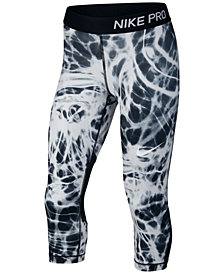 Nike Big Girls Pro Printed Capri Leggings