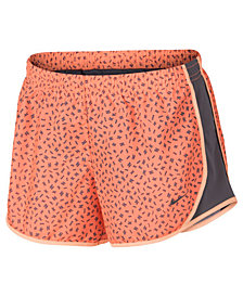 Nike Big Girls Printed Dry Tempo Running Shorts