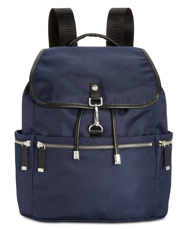 Calvin Klein Florence Backpack ( Navy/Silver/Black/Silver)