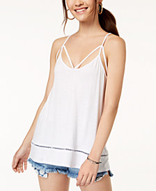 Ultra Flirt By Ikeddi Juniors' Strappy Tank Top