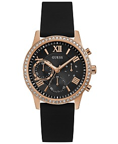 9720fa824 GUESS Women's Black Silicone Strap Watch 40mm