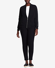 Lauren Ralph Lauren Plus Size French Terry Jacket & Jogger Pants