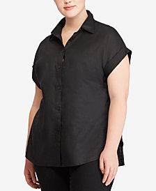 Lauren Ralph Lauren Plus Size Linen Shirt