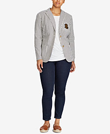 Lauren Ralph Lauren Plus Size Lightweight Blazer & Skinny Fit Pants