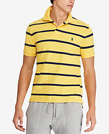 Polo Ralph Lauren Men's Striped Classic-Fit Mesh Polo Shirt