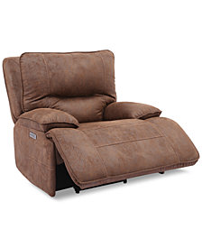 Felyx Fabric Power Recliner With Power Headrest And USB Power Outlet