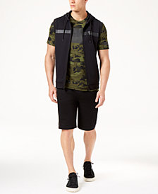 "ID Ideology Men's Sleeveless Hoodie, Mesh T-Shirt & 11"" Shorts, Created for Macy's"