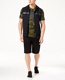 "ID Ideology Men's Sleeveless Hoodie, Mesh T-Shirt & 11"" Shorts, Created for Macy's"