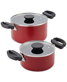 Farberware Neat Nest Space-Saving 4-Pc. Aluminum Non-Stick Saucepot Set