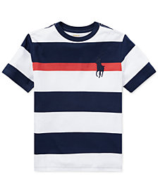 Polo Ralph Big Boys Lauren Striped Cotton T-Shirt