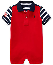 Polo Ralph Lauren Baby Boys Cotton Polo Romper