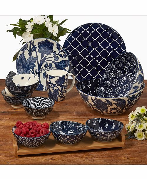 Certified International Blue Indigo Dinnerware