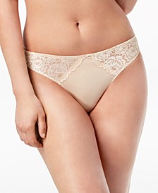 INC Smooth Lace Thong, Created for Macy's