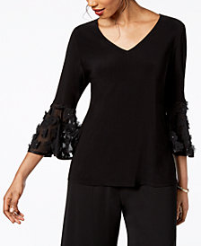 MSK Illusion Bell-Sleeve Top