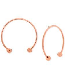 Open Hoop Drop Earrings