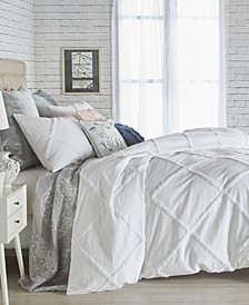 Home Chenille Lattice Queen Duvet Cover