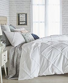 Peri Home Chenille Lattice Queen Duvet Cover