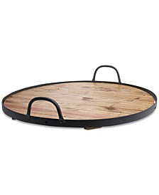 Reclaimed Wood Round Barrel Lazy Susan