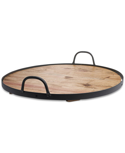 Tabletops Unlimited Reclaimed Wood Round Barrel Lazy Susan