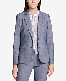 Tommy Hilfiger Two-Button Tweed Jacket