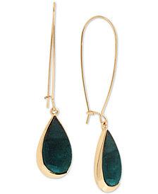 Robert Lee Morris Soho Patina/Imitation Mother-of-Pearl Drop Earrings