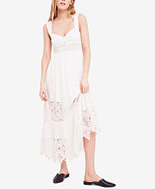 Free People Caught Your Eye Cotton Lace-Inset Maxi Dress