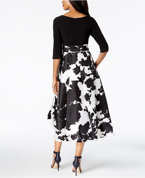 f29ceb103a1 R & M Richards Petite & Regular Floral & Solid High-Low Dress ...