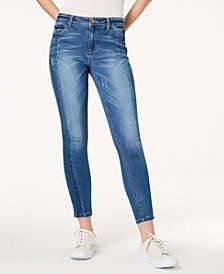 Tinseltown Juniors' Paneled Ankle Skinny Jeans
