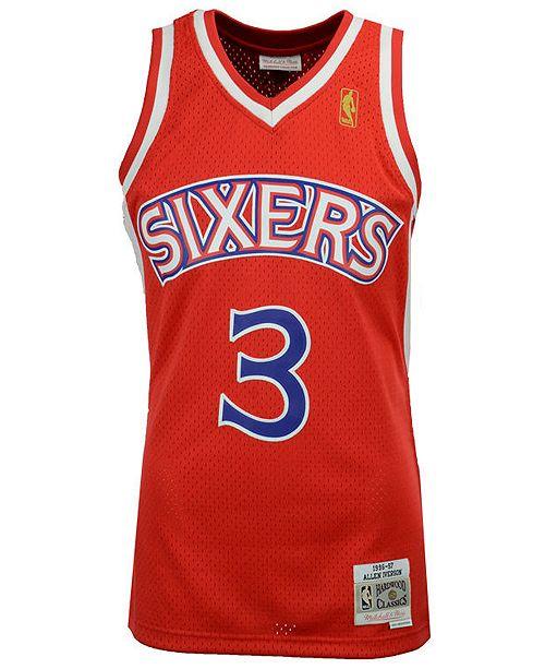 timeless design b9af9 dea5c Men's Allen Iverson Philadelphia 76ers Hardwood Classic Swingman Jersey