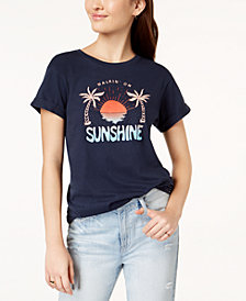 Hurley Juniors' Sunshine Cotton Graphic T-Shirt
