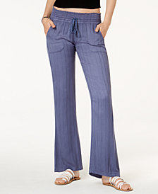 Roxy Juniors' Oceanside Textured Soft Pants