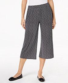 MICHAEL Michael Kors Petite Printed Wide-Leg Pants