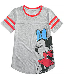 Disney Big Girls Minnie Mouse Football T-Shirt