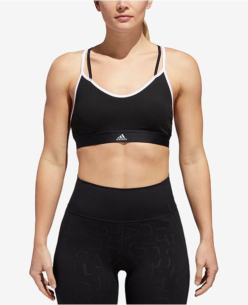 a9f998fdb6 adidas All Me ClimaLite® Strappy Low-Impact Compression Sports Bra ...