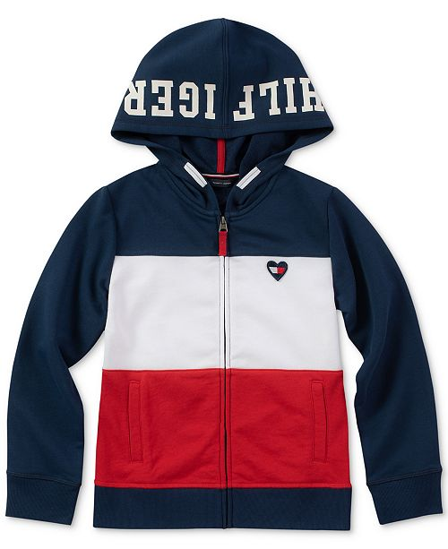 e40090f077d4 Tommy Hilfiger Little Girls Full-Zip Colorblocked Hoodie   Reviews ...